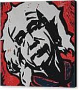Einstein 2 Canvas Print by William Cauthern