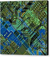 Microprocessor Canvas Print by Michael W. Davidson