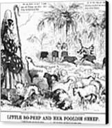 Secession Cartoon, 1861 Canvas Print by Granger