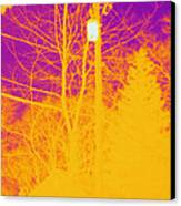 Thermogram Of Electrical Wires Canvas Print by Ted Kinsman