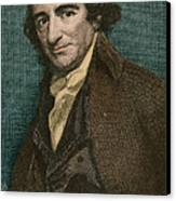 Thomas Paine, American Patriot Canvas Print by Photo Researchers