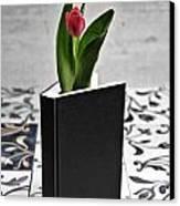 Tulip In A Book Canvas Print