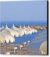 Umbrellas In The Sun Canvas Print