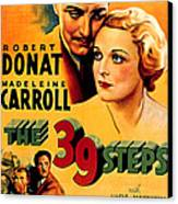 39 Steps, The, Robert Donat, Madeleine Canvas Print