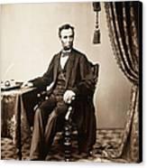 Abraham Lincoln 1809-1865, U.s Canvas Print by Everett