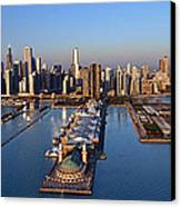 Chicago Skyline Canvas Print by Jeff Lewis