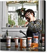 Depression And Addiction Canvas Print