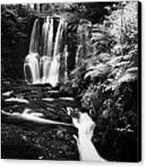 Ess-na-crub Waterfall On The Inver River In Glenariff Forest Park County Antrim Northern Ireland Uk Canvas Print by Joe Fox