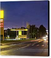 Estonian Gas Station At Night Canvas Print by Jaak Nilson