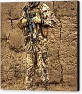 Hdr Image Of A German Army Soldier Canvas Print by Terry Moore