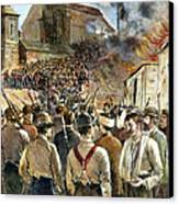Homestead Strike, 1892 Canvas Print by Granger
