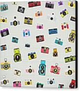 Retro Camera Pattern Canvas Print