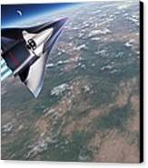 Saenger-horus Spaceplane, Artwork Canvas Print by Detlev Van Ravenswaay