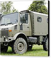 Unimog Truck Of The Belgian Army Canvas Print