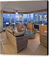 Usa Hi Honolulu Upscale Living Room Canvas Print