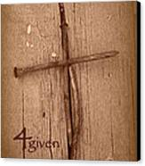 4given Forgiven Canvas Print by Cindy Wright