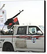 A Free Libyan Army Pickup Truck Canvas Print