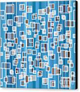 Blue Abstract Canvas Print by Frank Tschakert