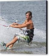Kite Boarding Canvas Print by Jeanne Andrews