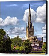 Norwich Cathedral Norfolk England Canvas Print