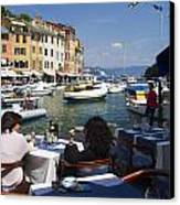 Portofino In The Italian Riviera In Liguria Italy Canvas Print