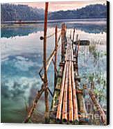 Tamblingan Lake Canvas Print by MotHaiBaPhoto Prints