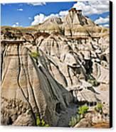 Badlands In Alberta Canvas Print by Elena Elisseeva