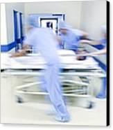 Emergency Hospital Treatment Canvas Print