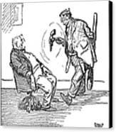 League Of Nations Cartoon Canvas Print