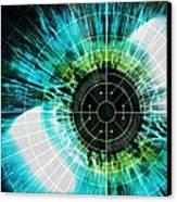 Biometric Eye Scan Canvas Print