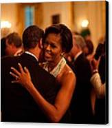 President And Michelle Obama Dance Canvas Print