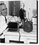 Harry S. Truman (1884-1972) Canvas Print by Granger