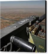 A .50 Caliber Machine Gun Points Canvas Print by Stocktrek Images