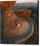 A Bedouin Surveys The View Canvas Print