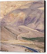 A Bend In A Desert Road Near Mount Nebo Canvas Print by Martin Child