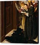 A Carol Canvas Print by Laura Theresa Alma-Tadema