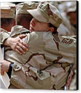 A Chief Master Sergeant Consoles Canvas Print by Stocktrek Images