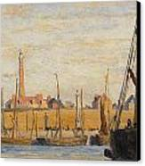 A Continental Harbor Canvas Print by William Lionel Wyllie
