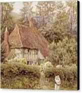 A Cottage Near Haslemere Canvas Print