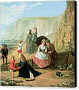 A Day At The Seaside Canvas Print by William Scott