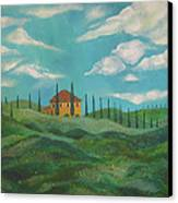 A Day In Tuscany Canvas Print by John Keaton