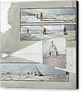 A Diagram Examines Photographs Canvas Print by Richard Schlecht