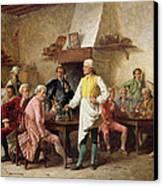 A Gentleman's Debate Canvas Print by Benjamin Eugene Fichel