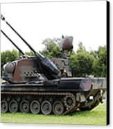 A Gepard Anti-aircraft Tank Canvas Print by Luc De Jaeger