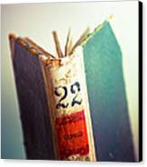 A Good Book Is Hard To Find Canvas Print by Amanda Davis