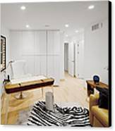 A Home Office. A Black And White Zebra Canvas Print