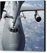 A Kc-10 Extender Prepares To Refuel Canvas Print by Stocktrek Images