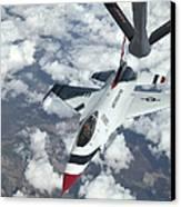 A Kc-135 Stratotanker Refuels An Air Canvas Print