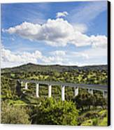 A Large Highway Bridge An Elevated Canvas Print by Don Mason