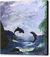 A Leap Of Faith Canvas Print by Judy M Watts-Rohanna